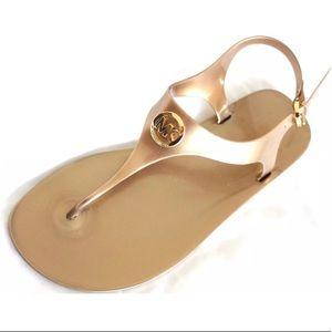 Michael kors golden thong sandal jelly flat New